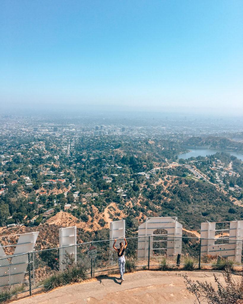 J'ai grimpé jusqu'au signe Hollywood